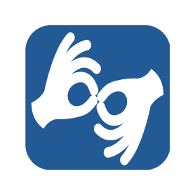 sign language interpretation logo