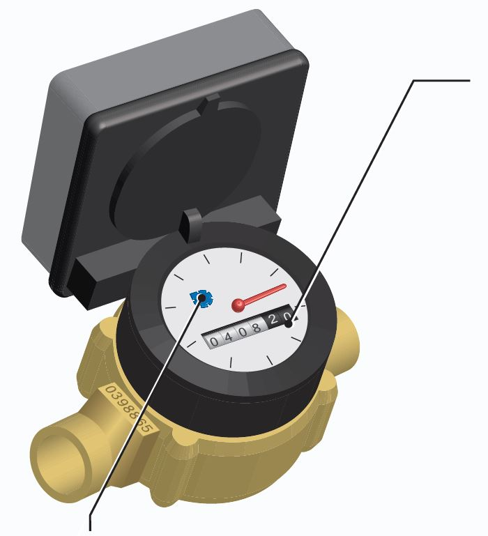 Illustration of a water meter