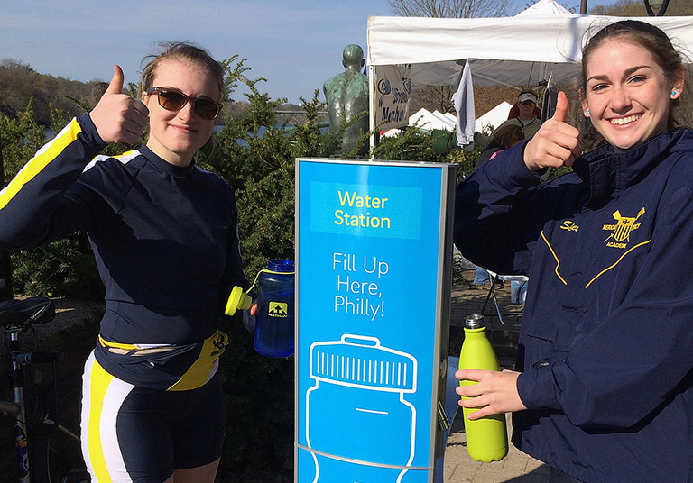 Thumbs up for water access: The Kelly Drive water stations will be flowing again soon.